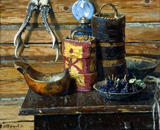 Стожаров В. Ф. Туеса, рога и чёрная рябина