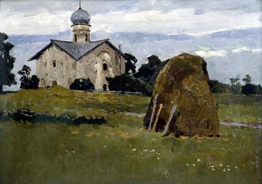 Стожаров В. Ф. Новгород. Церковь Благовещения в Аркажах