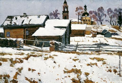 Стожаров В. Ф. Первый снег