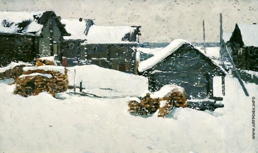 Стожаров В. Ф. Идет снег