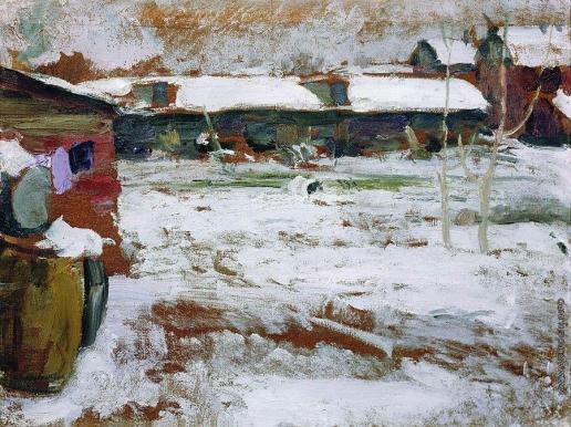 Архипов А. Е. Зима. Задворки