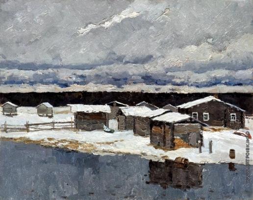 Стожаров В. Ф. Май. Выпал снег