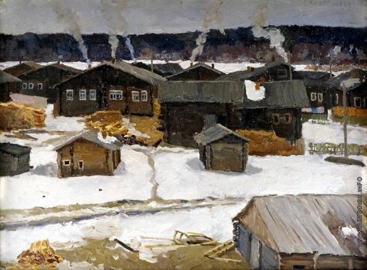 Стожаров В. Ф. Сёрдла. Этюд к картине «Деревня Сёрдла»