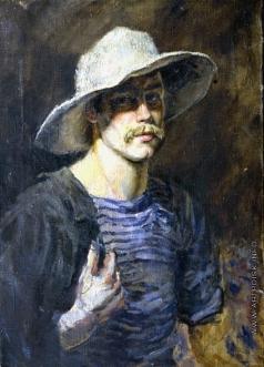 Стожаров В. Ф. Автопортрет в белой шляпе