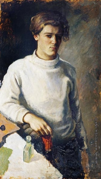 Стожаров В. Ф. Автопортрет в белом свитере