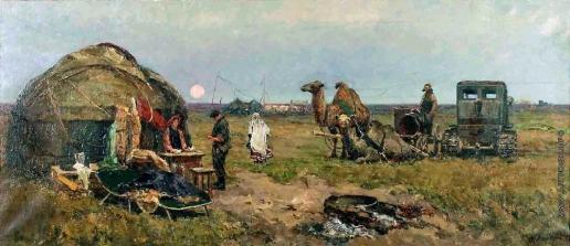 Стожаров В. Ф. На целине в Казахстане