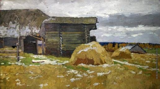 Стожаров В. Ф. Первый снег. Костромская область