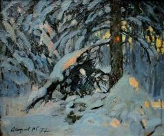 Абакумов М. Г. Зимний вечер в лесу