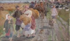 Сычков Ф. В. Эскиз картины «Возвращение с ярмарки»