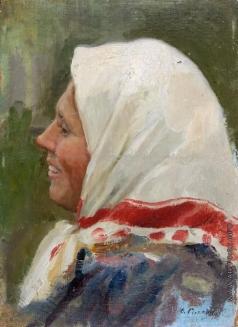 Сычков Ф. В. Головка бабы. Этюд для картины «Возвращение с ярмарки»