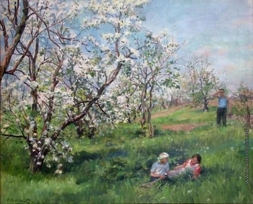 Сычков Ф. В. Цветущая яблоня