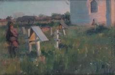 Сычков Ф. В. Осиротел. Эскиз картины