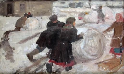 Сычков Ф. В. Эскиз картины «Снежный ком»