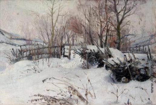 Сычков Ф. В. Зима. Этюд