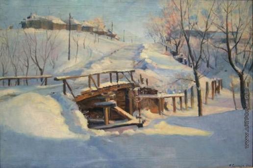 Сычков Ф. В. Зимняя дорога