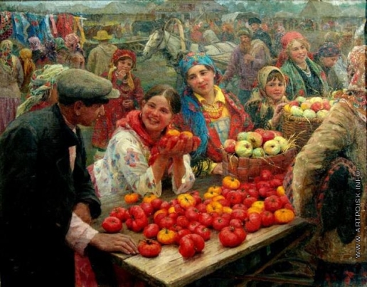 Сычков Ф. В. Колхозный базар