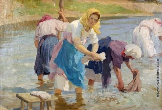 Сычков Ф. В. Полоскальщицы. Этюд для одноименной картины 1910 года