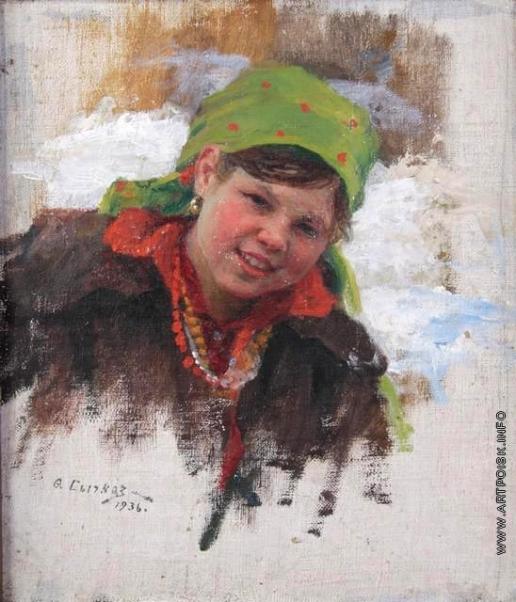 Сычков Ф. В. Девушка. Этюд для картины «Праздничный день»
