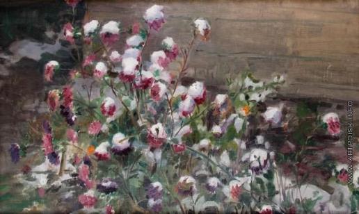 Сычков Ф. В. Первый снег. Цветы
