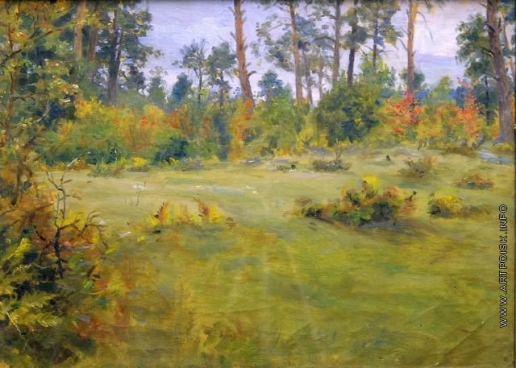 Сычков Ф. В. Осенний лес. Этюд для картины «Трудный переход»