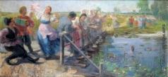 Сычков Ф. В. Эскиз картины «На мосту»