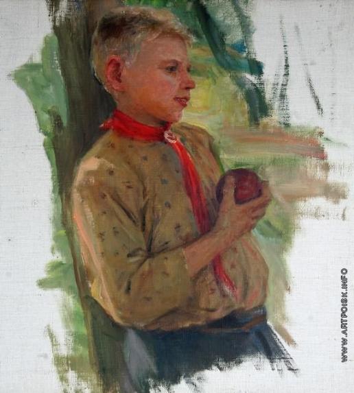 Сычков Ф. В. Мальчик. Этюд для картины «Праздник урожая»