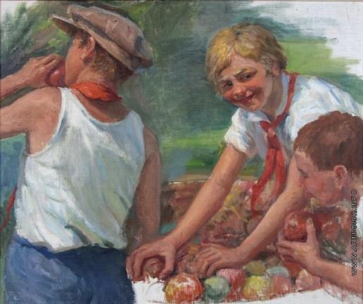 Сычков Ф. В. Пионеры. Этюд для картины «Праздник урожая»