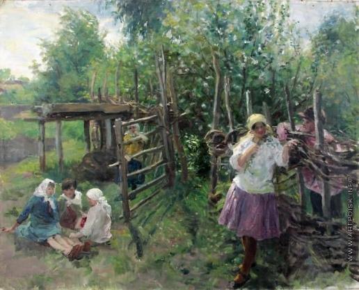 Сычков Ф. В. У плетня