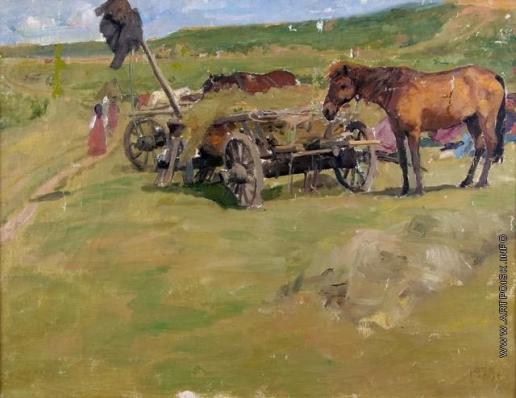 Сычков Ф. В. В поле. Этюд для картины «Возвращение с сенокоса»