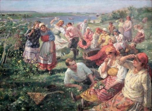 Сычков Ф. В. Выходной день в колхозе