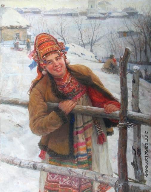 Сычков Ф. В. Девушка-эрзянка