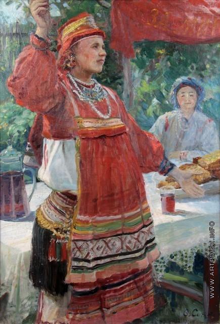Сычков Ф. В. Мордовка. Этюд для картины «Праздник урожая»