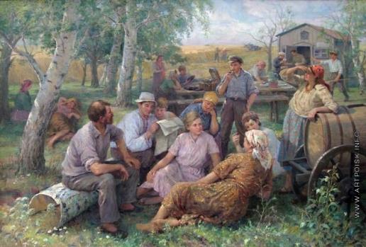 Сычков Ф. В. Отдых на полевом стане