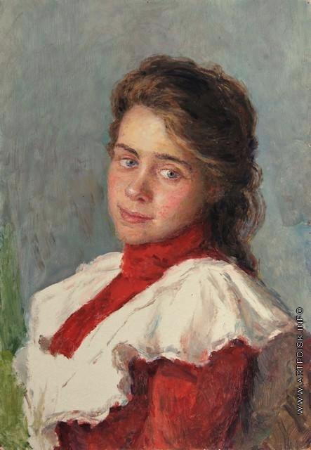 Сычков Ф. В. Портрет жены художника. Этюд для картины 1904 года «Девушка с фруктами»