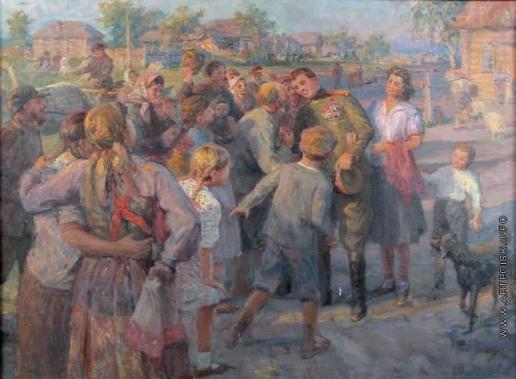Сычков Ф. В. Эскиз картины «Встреча героя»