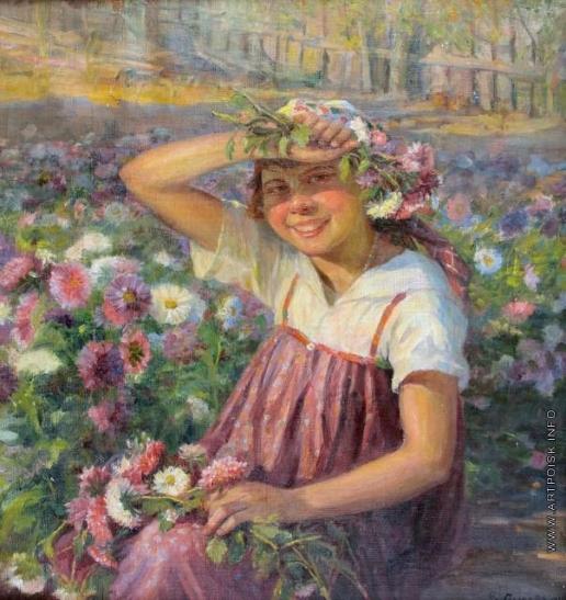 Сычков Ф. В. Девочка с цветами