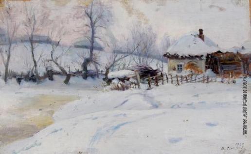 Сычков Ф. В. Зима.(Зимний вечер). Этюд