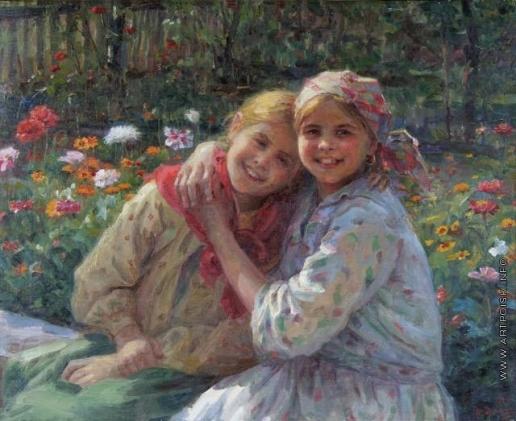 Сычков Ф. В. Девочки в саду