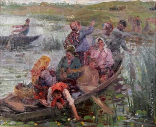 Сычков Ф. В. Эскиз картины «Переезд через болото»