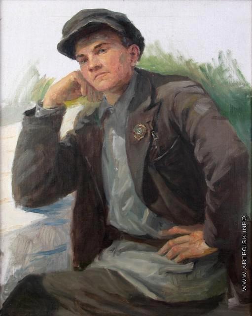 Сычков Ф. В. Мужской портрет. Этюд для картины «Праздник урожая»