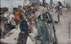 Корин А. М. Эскиз к картине «Трапеза»
