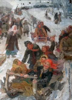 Сычков Ф. В. Эскиз картины «Катание на масленице»