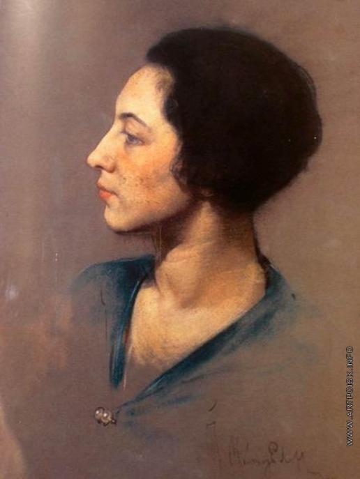 Мясоедов И. Г. Портрет мадам Бродской