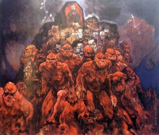 Мясоедов И. Г. Толпа демонов