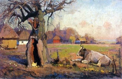 Мясоедов И. Г. Сельский пейзаж в Полтаве