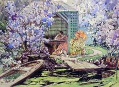 Мясоедов И. Г. Беседка в саду