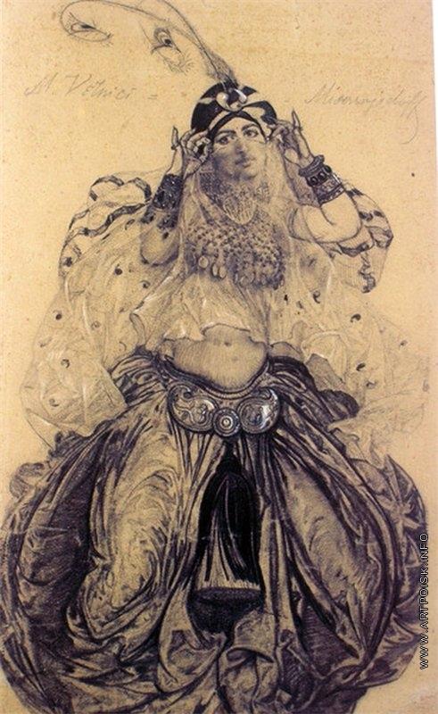 Мясоедов И. Г. Портрет Мальвины Верничи, жены художника
