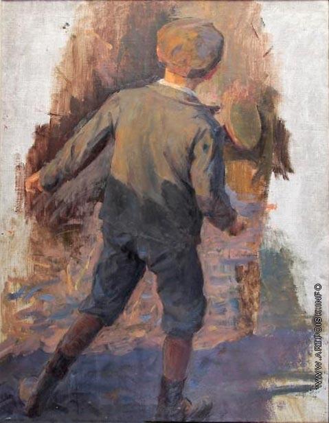 Сычков Ф. В. Портрет мальчика. Этюд для картины «Встреча героя»