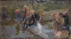 Сычков Ф. В. Эскиз картины «Трудный переход»