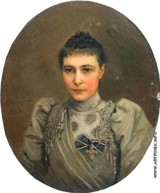 Корзухин А. И. Женский портрет (Портрет неизвестной с орденом св. Екатерины)